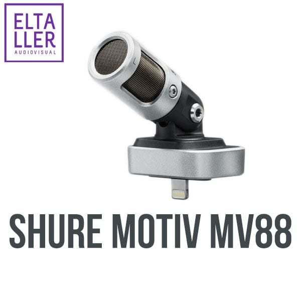 Shure MV88 micrófono digital para iPhone, iPad o iPod Touch - Accesorios para grabar audio en móviles