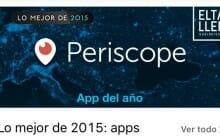 Periscope, aplicación del año 2015 para Apple