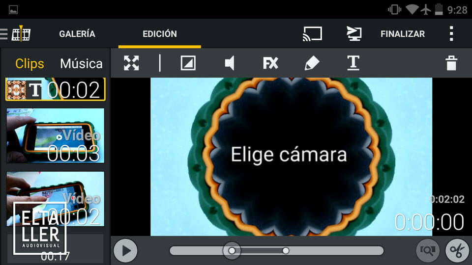 Los 5 mejores editores de vídeo Android: 5 - Movie Edit Touch