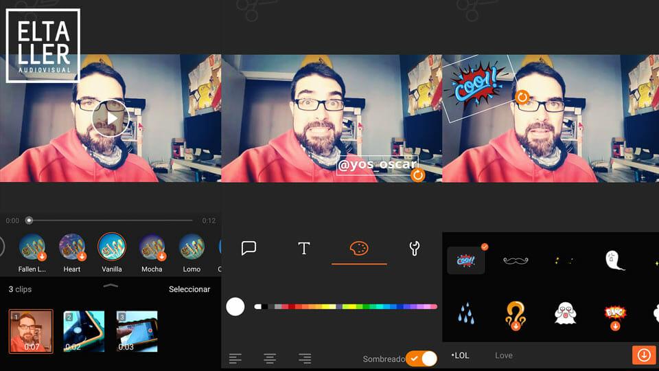 Los 5 mejores editores de vídeo Android: 4 - VivaVideo