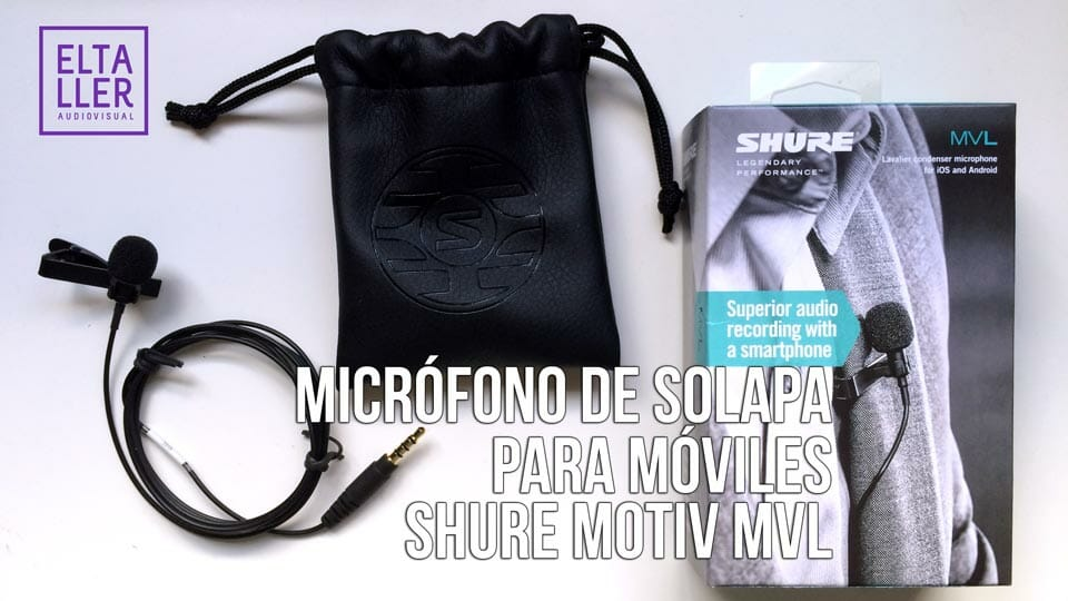 Micrófono de solala, micro de corbata o micrófono lavalier para grabar con móvil o tablet SHURE MOTIV MVL - Mejora tus grabaciones de audio
