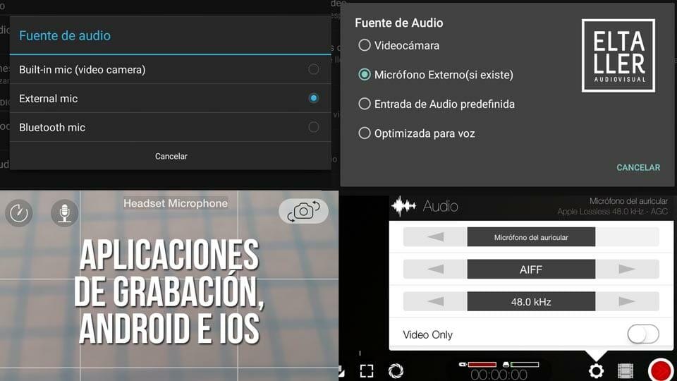Micrófono de solapa SHURE MVL - Configuración en aplicaciones de grabación de vídeo con móvil y tablet
