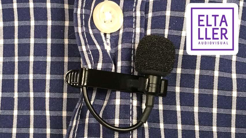 Detalle del micrófono de corbata de solapa o lavalier Shure MOTIV MVL