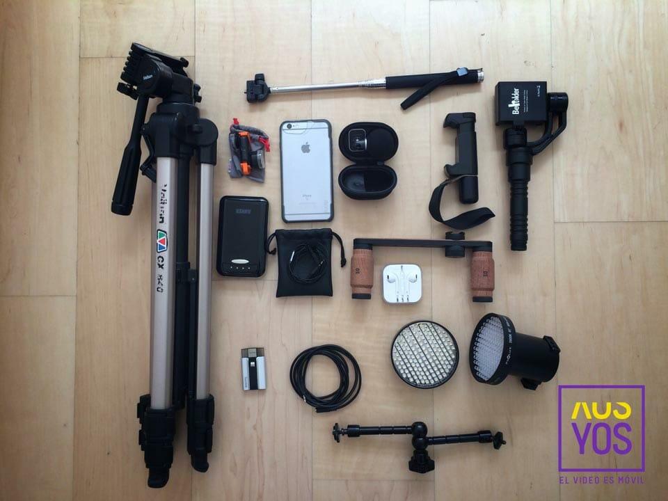 Accesorios para grabar vídeo con móviles de Javier Cabrera @YOSContenidos #mojoconedc