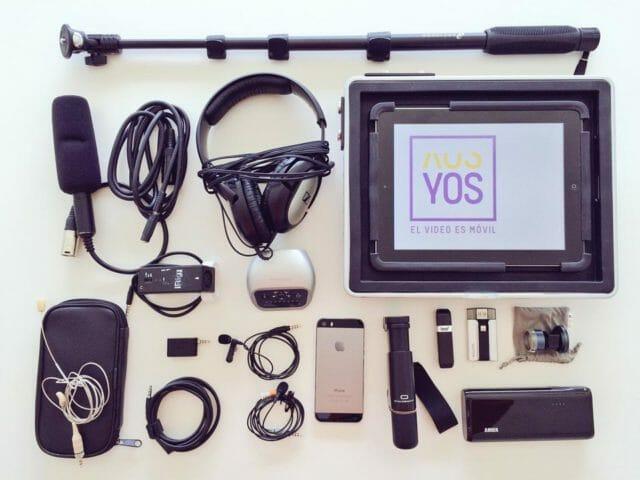 Accesorios para grabar vídeo con móviles de Óscar Oncina @yos_oscar para realización multicámara con Recolive Multicam o Switcher Studio