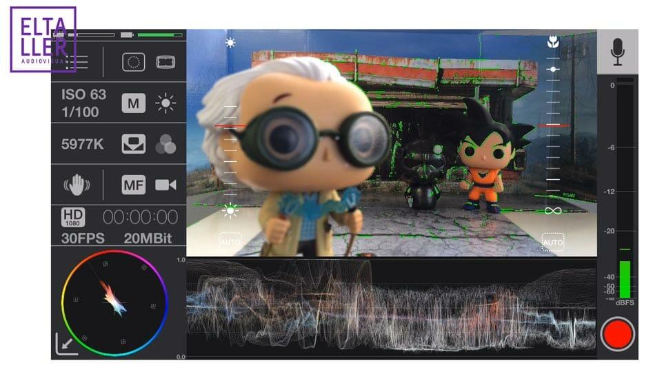 Usa el asistente de enfoque con Focus Peak al grabar vídeo con MAVIS