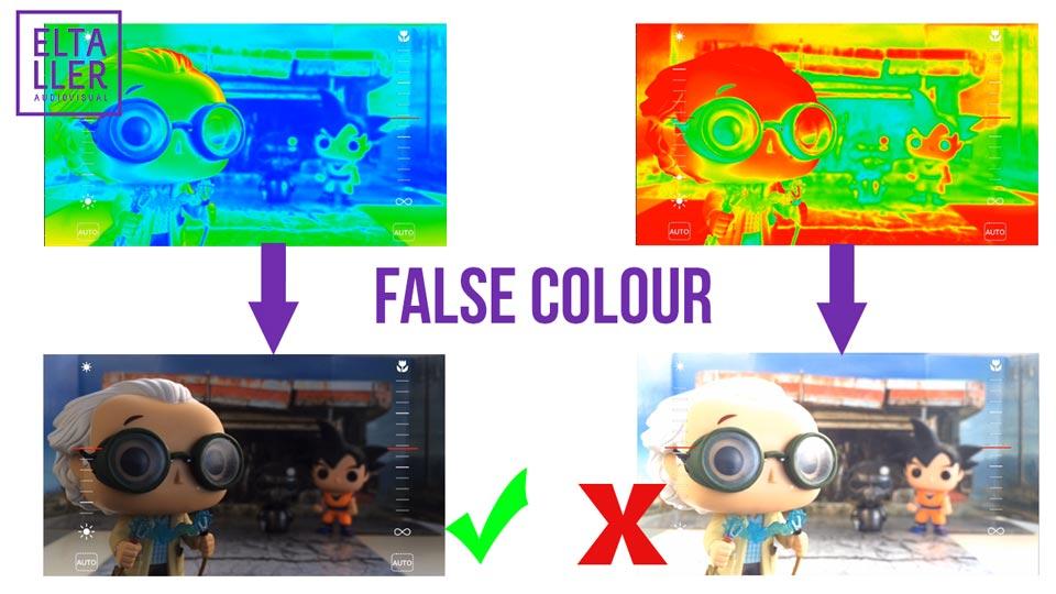 Herramientas profesionales en MAVIS para saber si tus grabaciones son correctas: Asistente de exposición False Colour