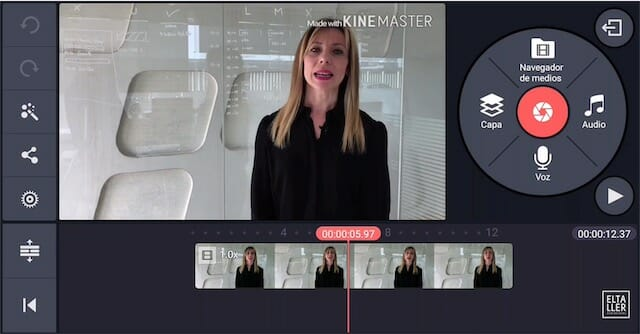 aplicaciones para hacer vídeos profesionales como Kinemaster