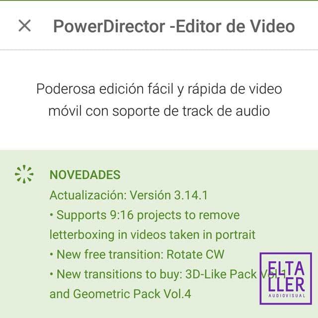 Edita vídeo vertical con tu editor Android Power Director