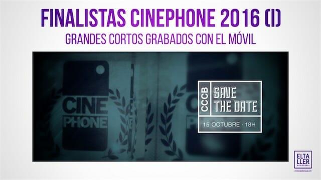 Finalistas Cinephone 2016
