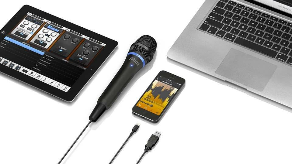 Micrófonos Lightning para iPhone 7 en Negro y en Plata: iRig Mic HD de IK Multimedia