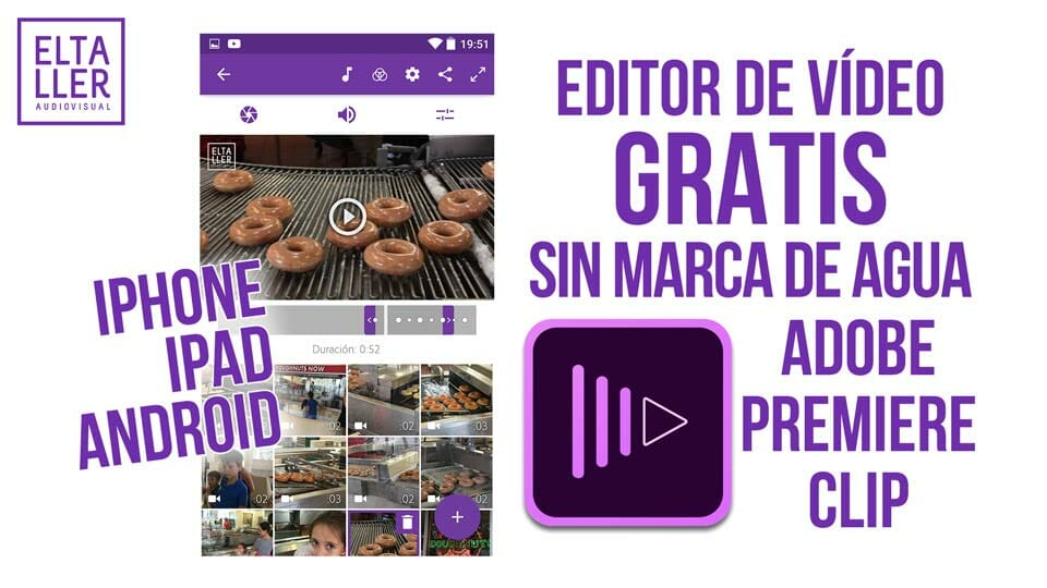 Editor de vídeo gratis sin marca de agua para Android, iPhone, iPad y iPod Touch, dispositivos con SO de Google y de iOS