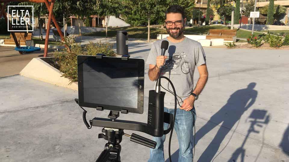 El iKlip AV para el periodista móvil, soporta diferentes dispositivos para grabar, incluidas las tablets y iPads si añades el soporte adecuado