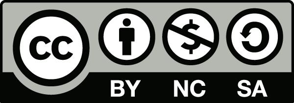 Imagen descriptiva de la licencia CC o Creative Commons Reconocimiento – No Comercial – Compartir Igual