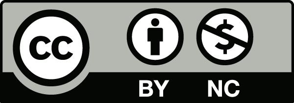 Imagen descriptiva de la licencia CC o Creative Commons Reconocimiento – No Comercial