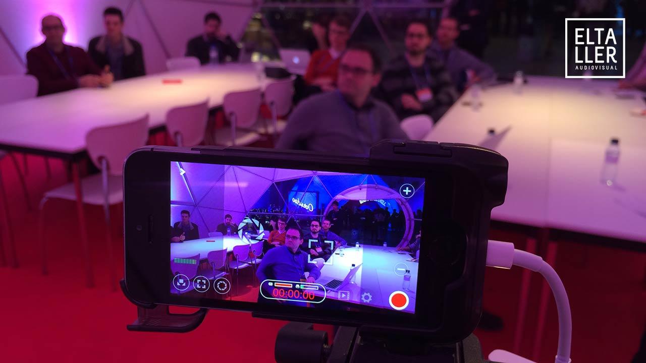 FilmicPro en la clase que impartimos en el 4YFN del #MWC