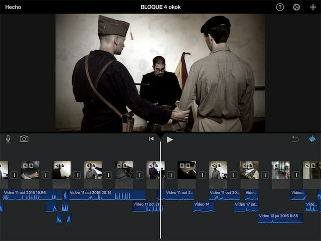 Editar vídeo con iPad en iMovie