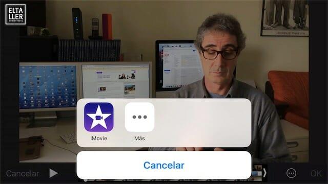 Acceso rápido al editor de vídeo iMovie