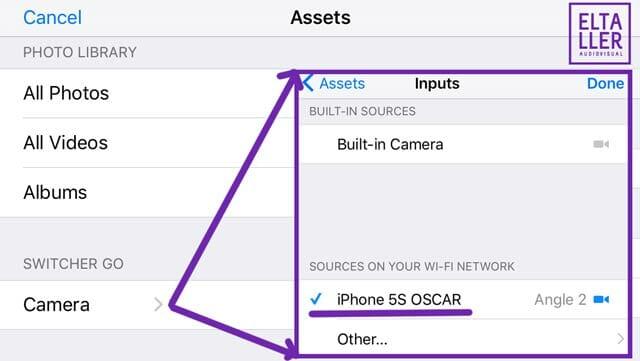 Ajustes para remotear un iphone o ipad con switcher go para usarlo de cámara para hacer un streaming mejorado