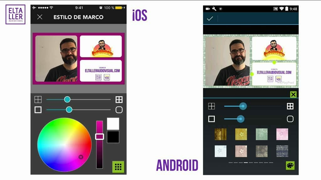 Opciones de estilo del videocollage con PicPlayPost en iOS, Android y Windows Phone