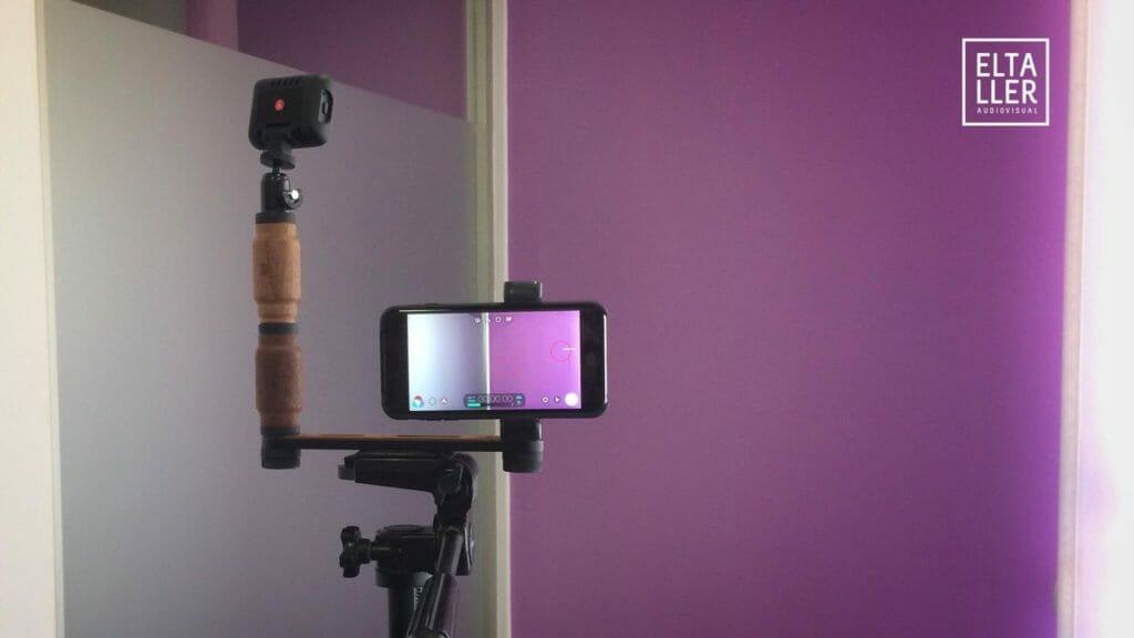 Foco led Lumimuse 3 con Shoulderpod X1 preparado para grabar