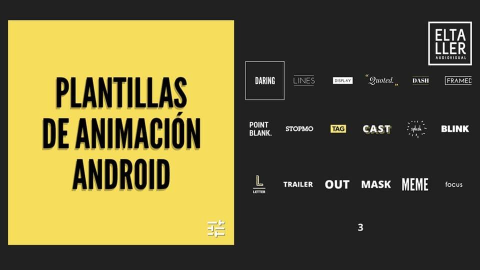 Cómo hacer títulos animados con móviles Plantillas de animación Android