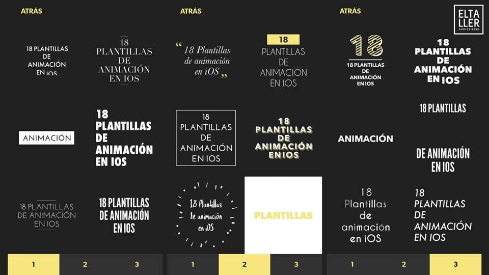 Cómo hacer títulos animados con móviles Plantillas de animación iOS