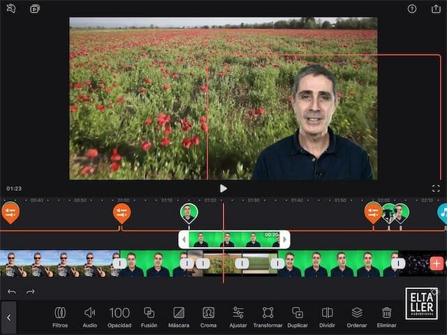 Cómo hacer un chroma key o pantalla verde con Videoleap