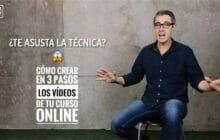 Cursos online con vídeos: cómo crearlos en 3 pasos sin sufrir con la técnica