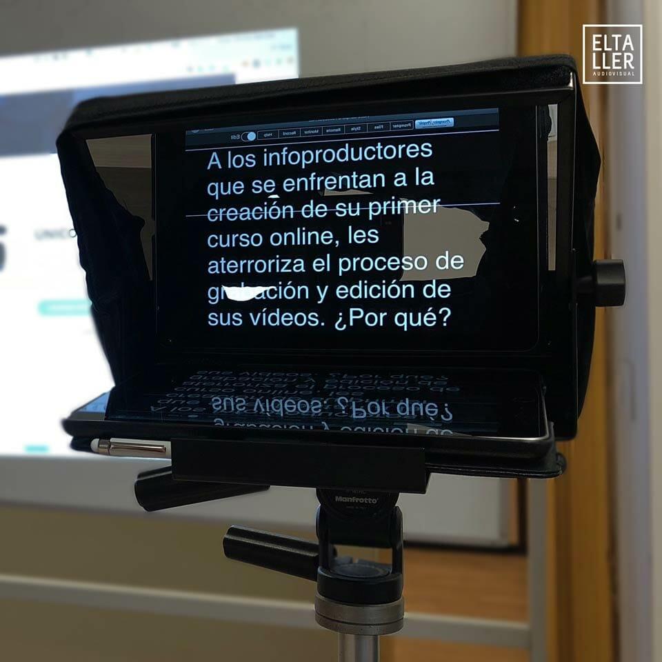 Mostramos como usar el Teleprompter en una clase de vídeo con moviles