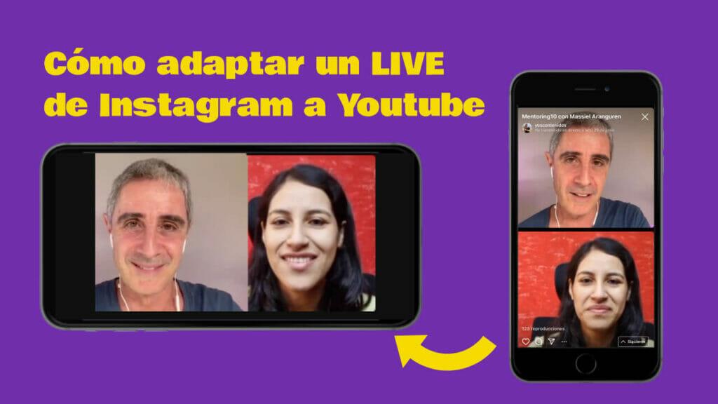 adaptar Live de IG a Youtube
